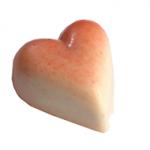 COEUR GIANDUJA BLANC : Coeur praliné enrobé de chocolat blanc