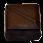 Pâte de fruits framboise, ganache chocolat noir corsé
