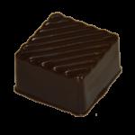 GANACHE CASSIS : ganache cassis enrobé de chocolat noir