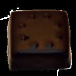 Pâte d'amande aux écorces d'oranges confites - ganache chocolat noir corsé